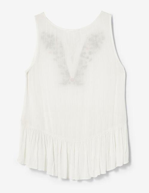 blouse brodée écru