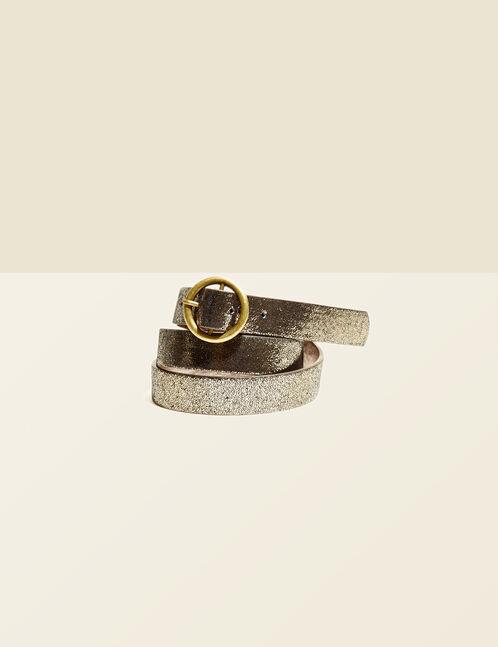 Bronze metallic belt