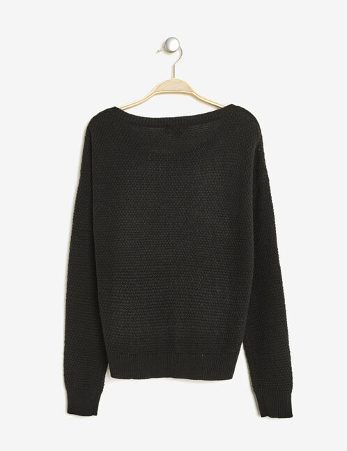 """Black jumper with """"hearty"""" patch"""