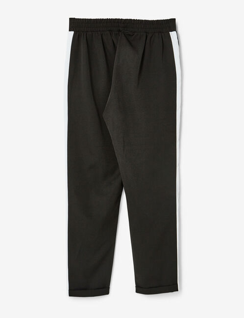 Black pleated tailored trousers