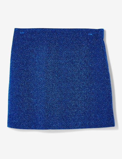 jupe avec fils lurex bleue