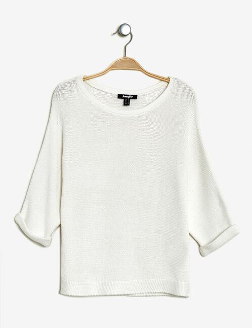 Cream jumper with batwing sleeves