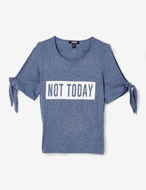 tee-shirt not today indigo chiné