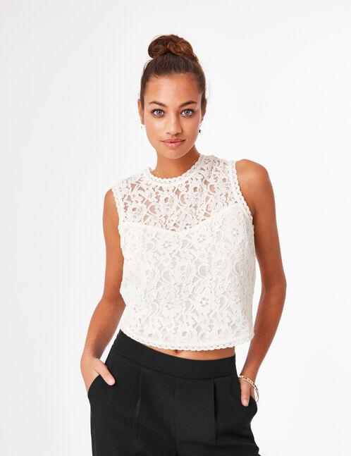 Cream lace blouse