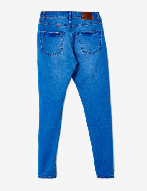 Medium blue high-waisted skinny jeans
