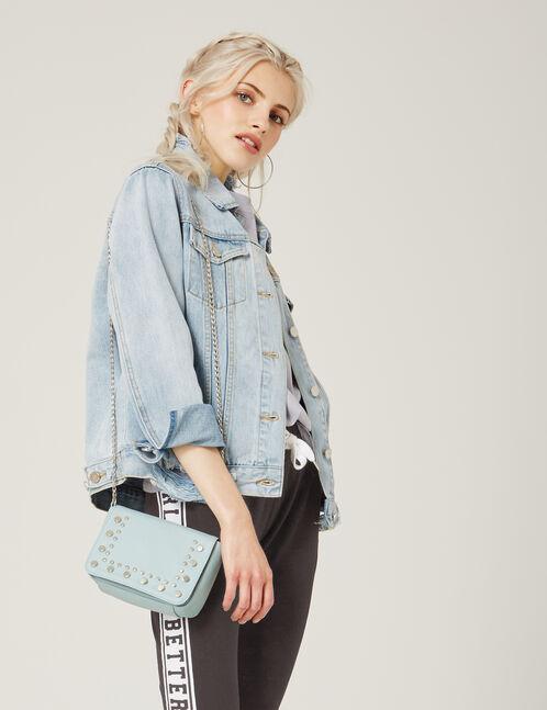 petit sac clouté bleu clair