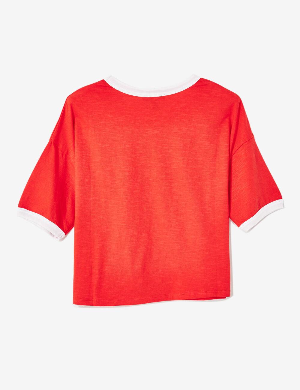 tee shirt ladies rouge femme jennyfer. Black Bedroom Furniture Sets. Home Design Ideas