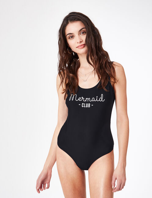 "Black ""mermaid"" swimsuit"