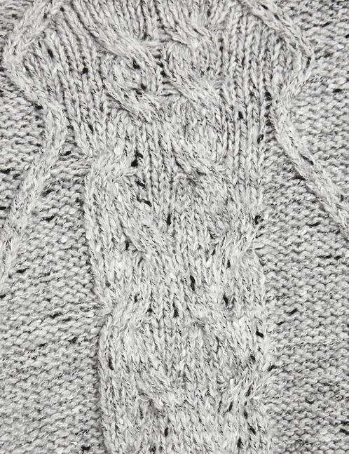 Grey marl cable knit jumper