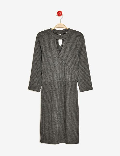 robe avec ouvertures gris anthracite