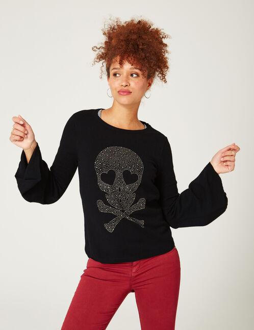 Black jumper with skull detail