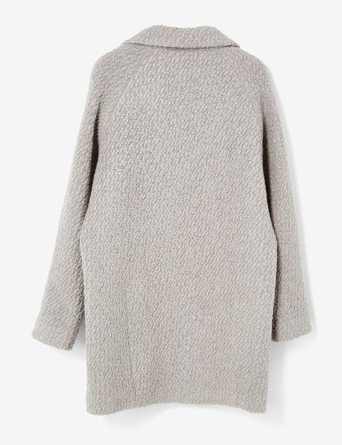 Grey marl wool coat