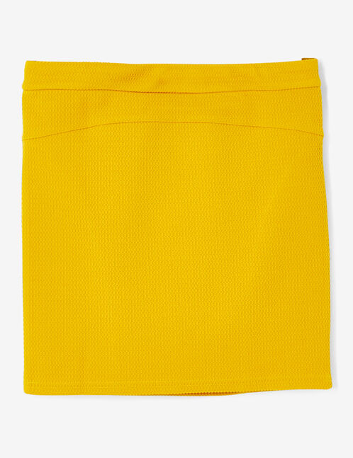 jupe tube texturée ocre