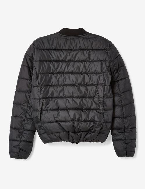 Black lightweight padded jacket