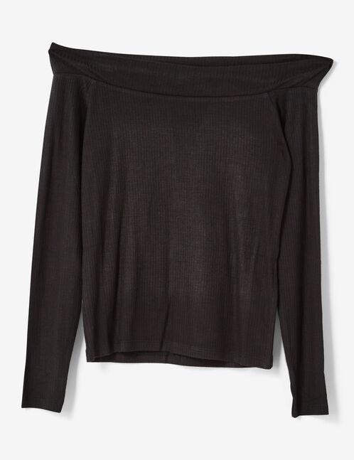 top épaules dénudées noir