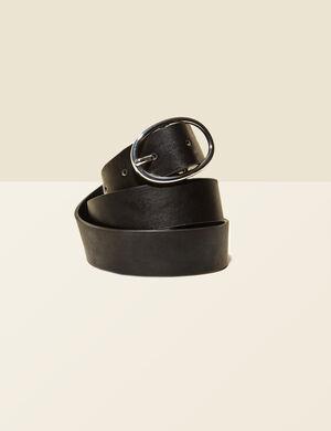 ceinture boucle ovale noire