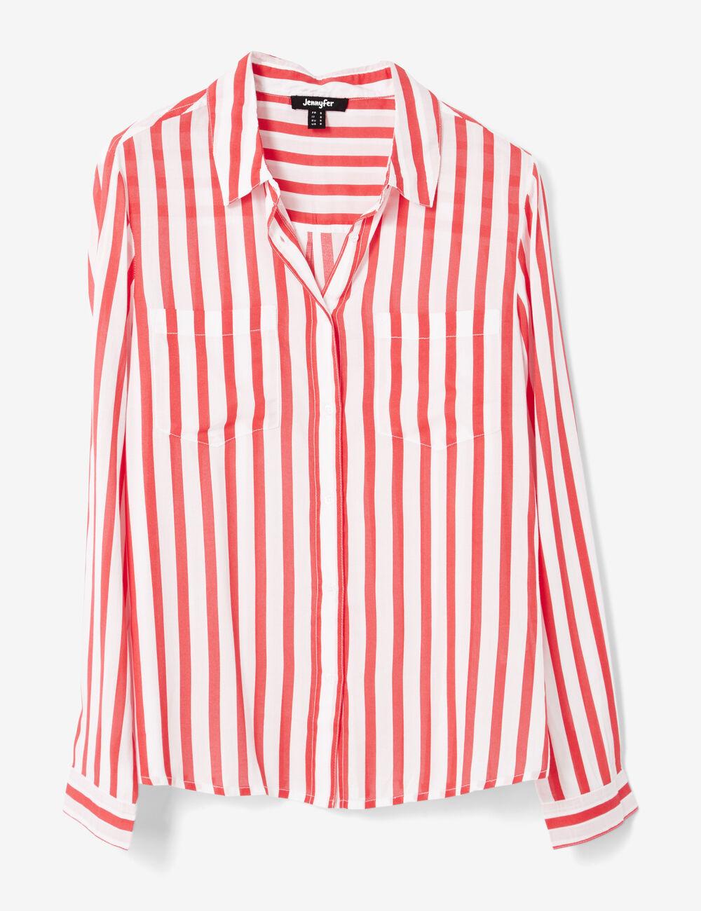 Chemise ray e rouge et blanche femme jennyfer - Chemise rouge et noir homme ...