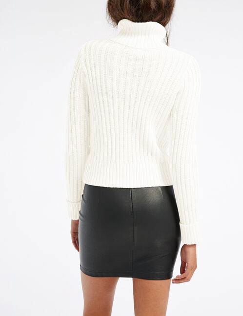 Cream polo neck jumper