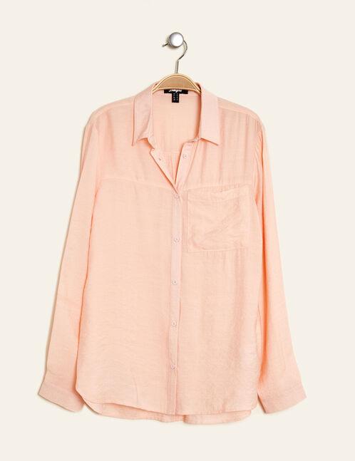 chemise légèrement texturée rose clair