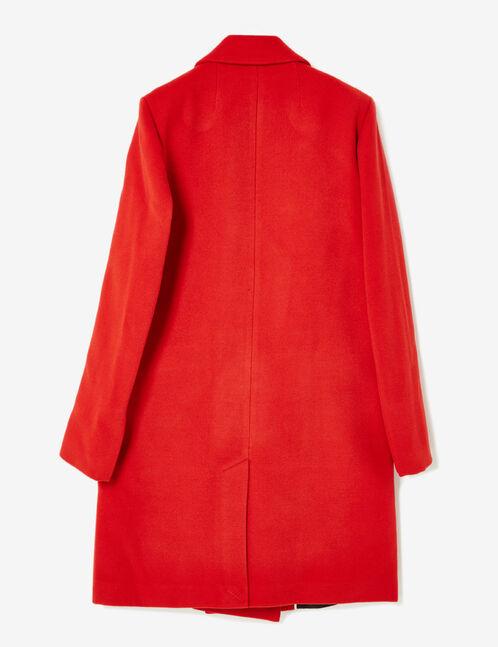 manteau style caban rouge
