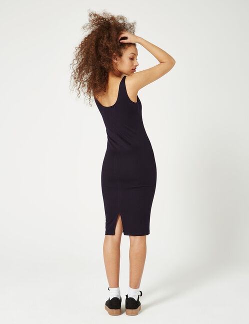 robe tube longue noire