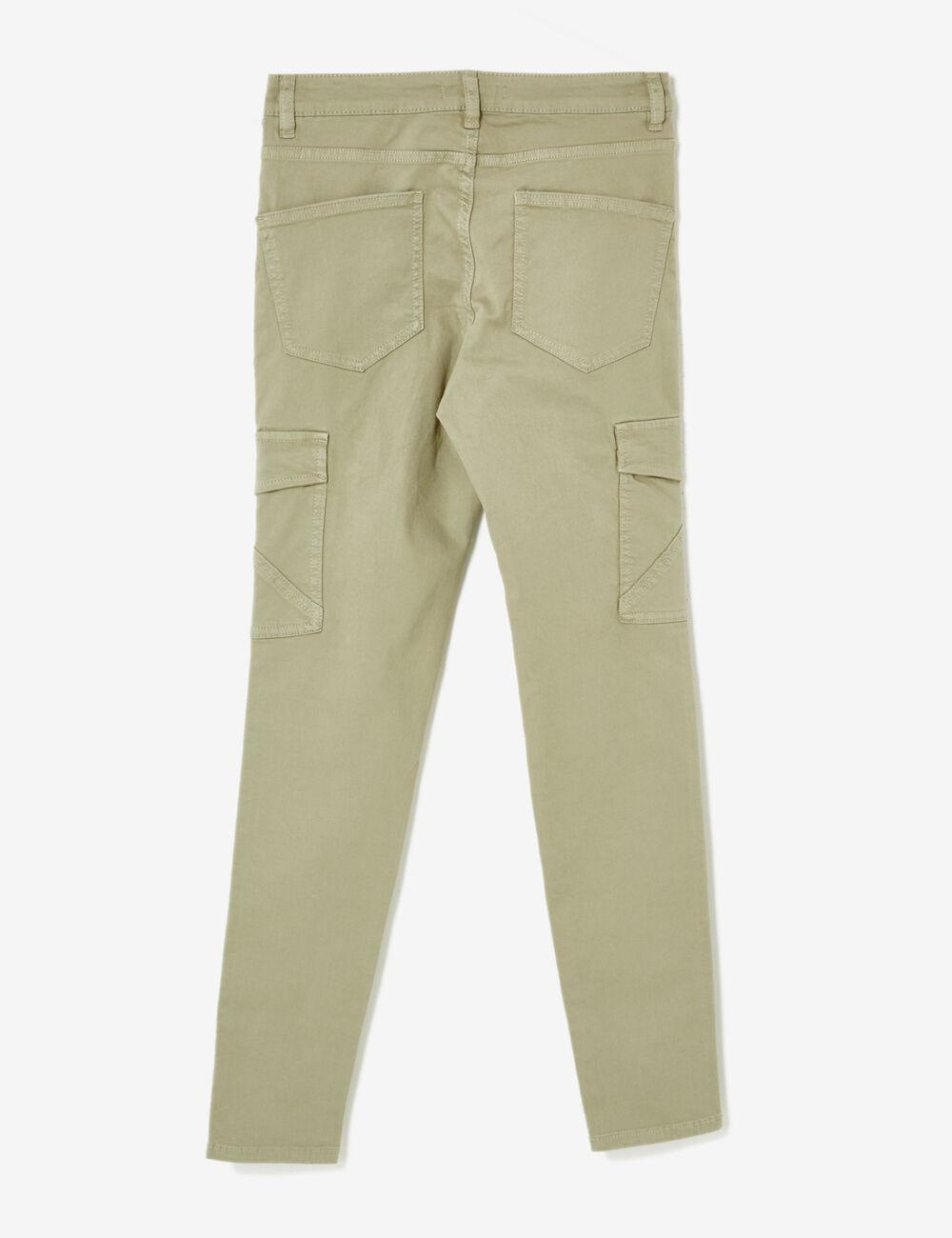 pantalon cargo poches kaki clair femme jennyfer. Black Bedroom Furniture Sets. Home Design Ideas
