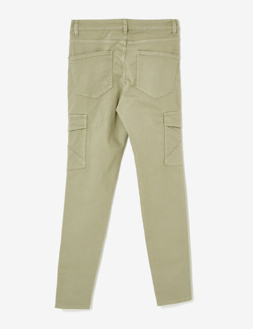 Light khaki cargo trousers with pockets