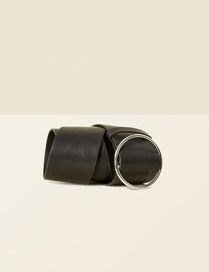 ceinture large noire
