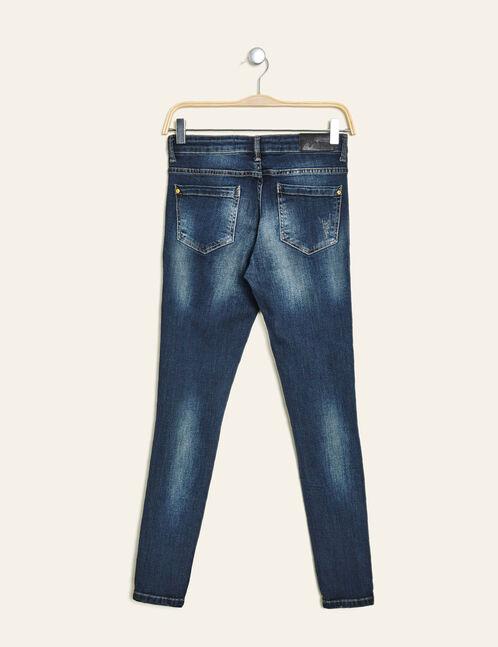 jean skinny destroy medium blue