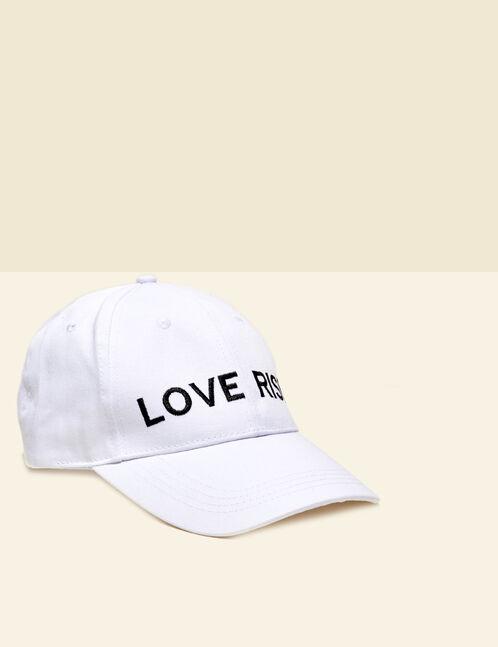 casquette love risk blanche