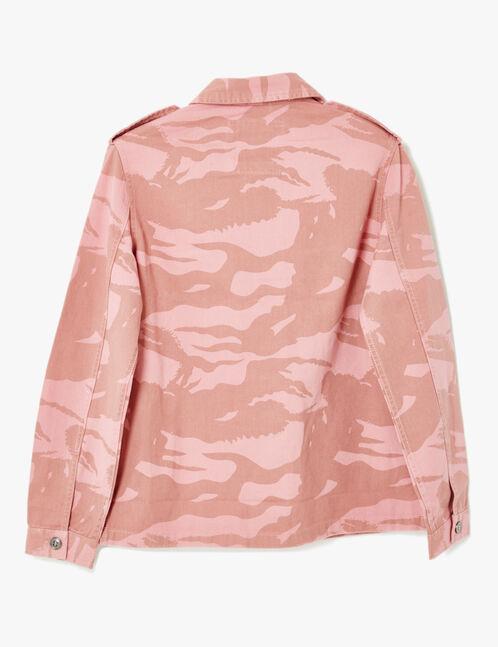Pink camouflage print jacket