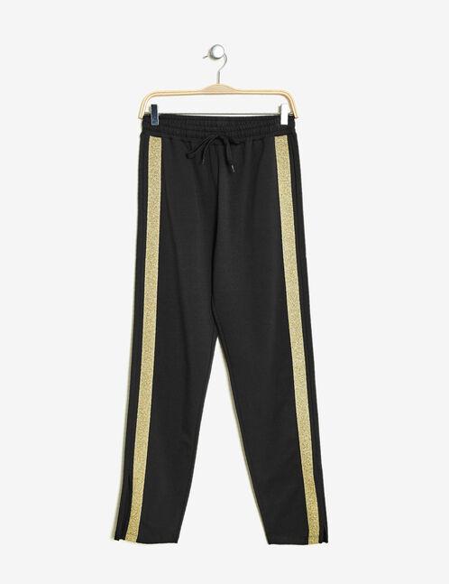 jogging avec bande lurex noir et doré