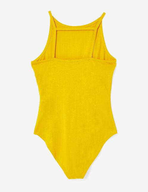 Ochre open-back bodysuit