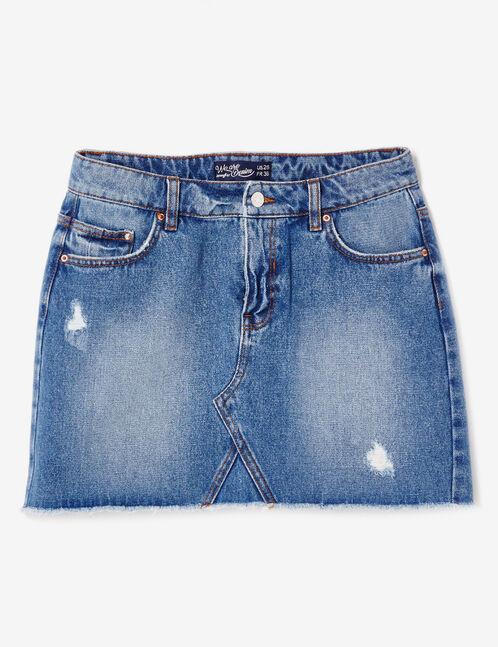 Medium blue denim skirt