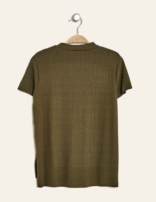 Khaki T-shirt with star patches