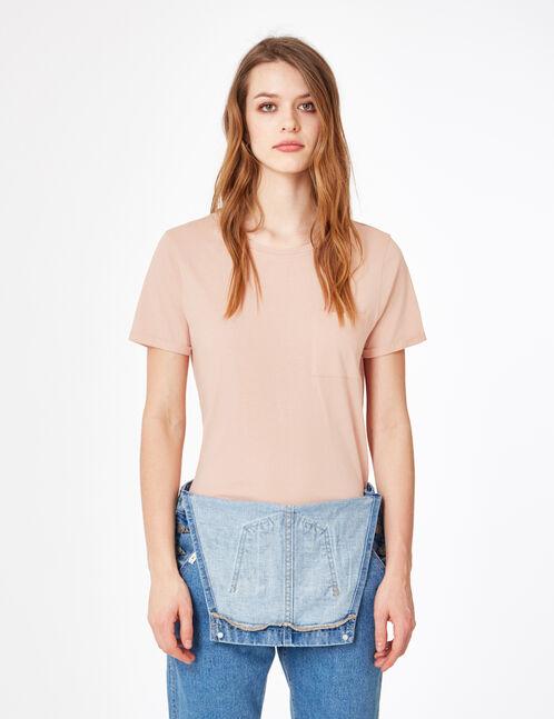 tee-shirt basic rose clair