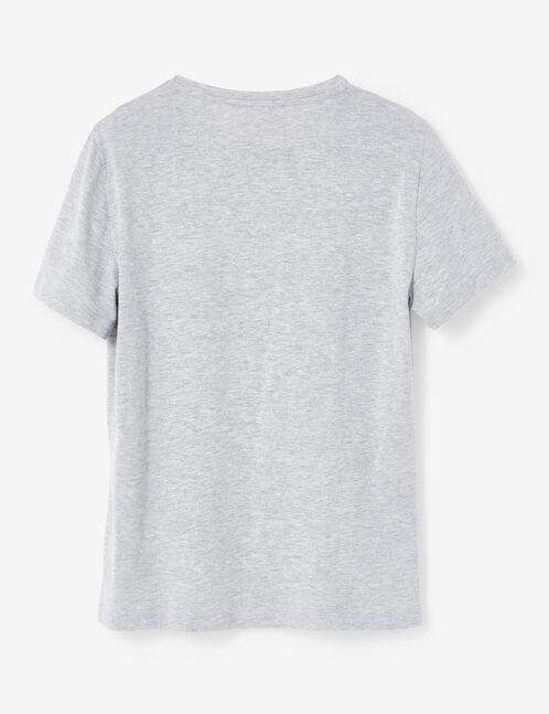 Grey marl printed T-shirt