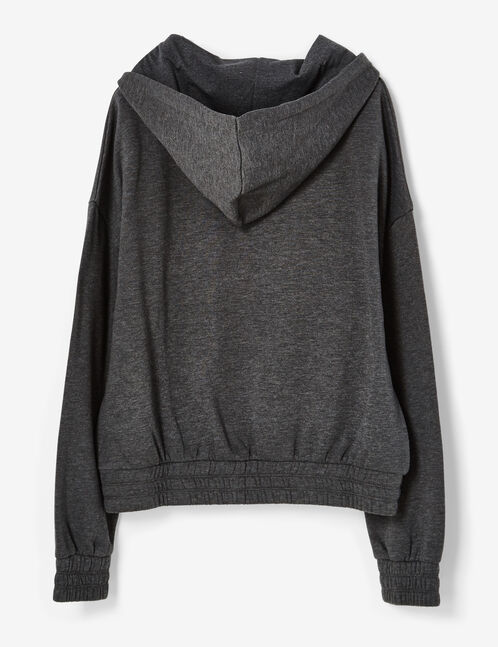 """Charcoal grey marl """"you can't stop me"""" hoodie"""
