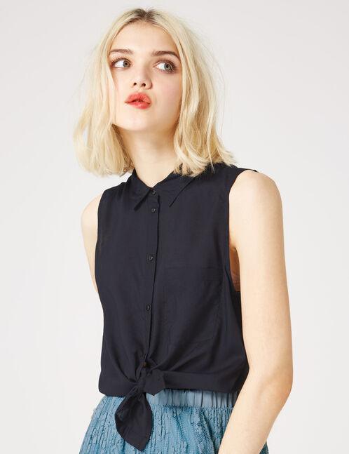 chemise sans manches noire
