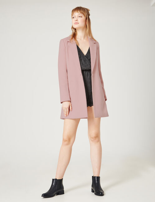 manteau revers nude