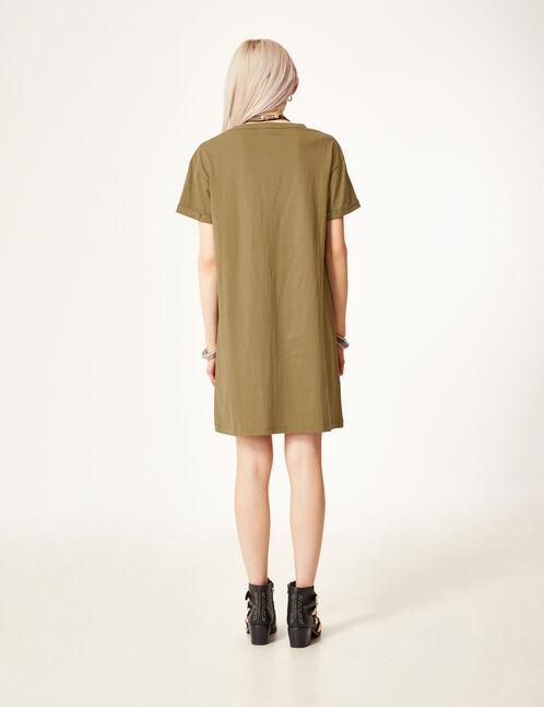 robe tee-shirt  kaki