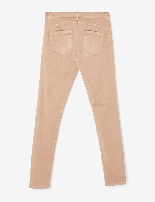 pantalon skinny push-up nude