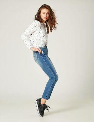 Jean Slim taille haute medium blue