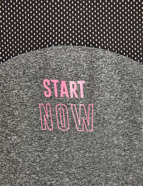 sweat start now fitness gris anthracite chiné