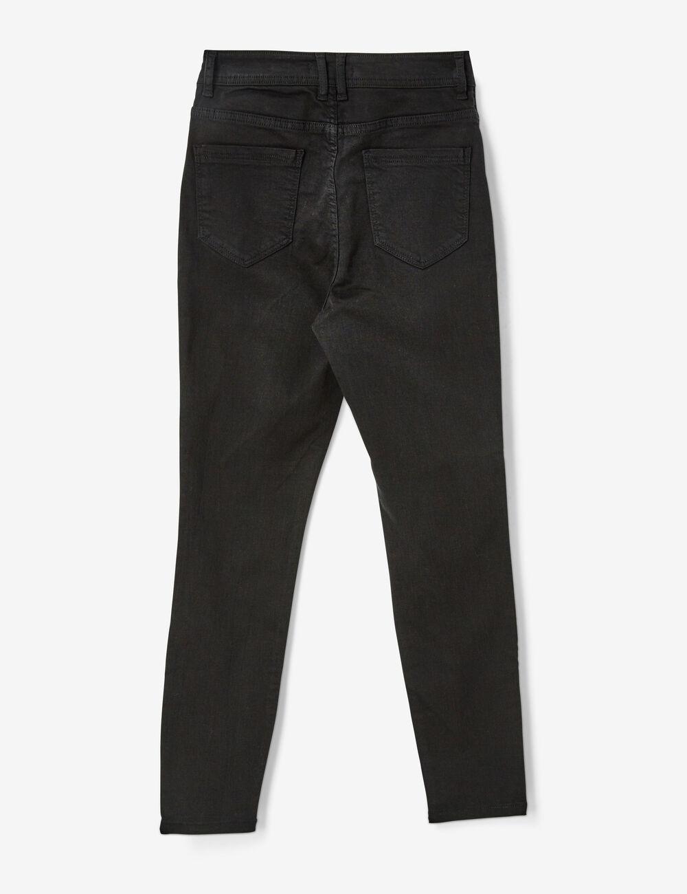 pantalon taille haute gris anthracite femme jennyfer. Black Bedroom Furniture Sets. Home Design Ideas