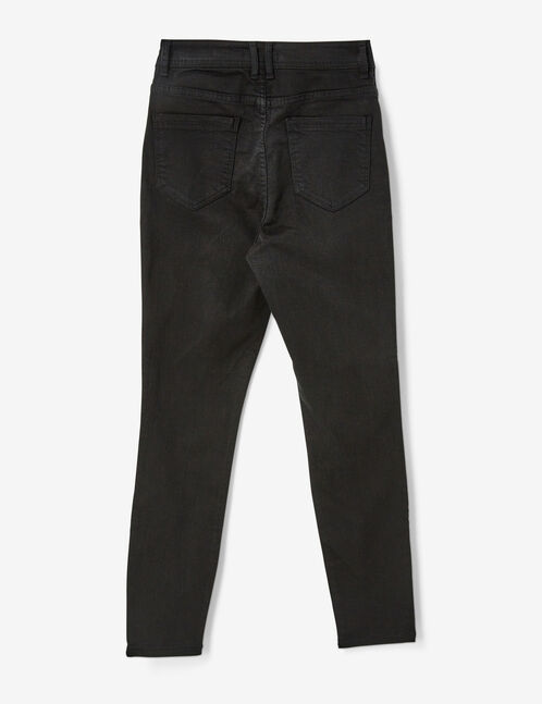 Charcoal grey high-waisted trousers