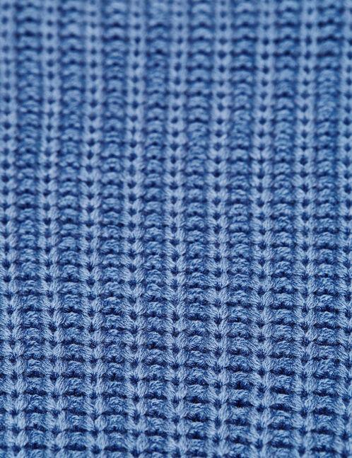 Pastel blue short rib-knit jumper