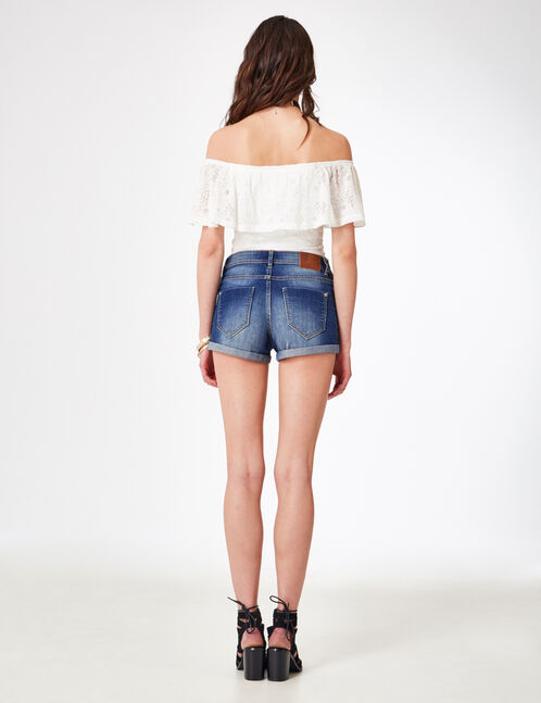 short en jean medium blue