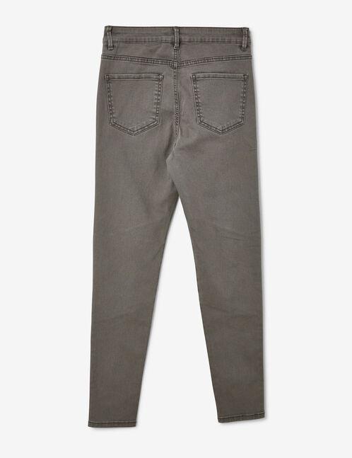 Grey biker-style trousers