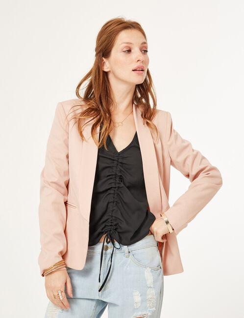 Light pink crêpe blazer